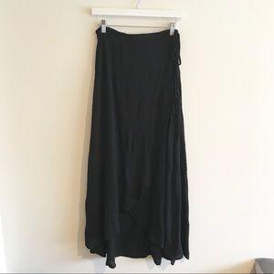 Cotton Wrap Maxi Skirt